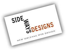 Sideways Designs New Orleans Web Design Business Card