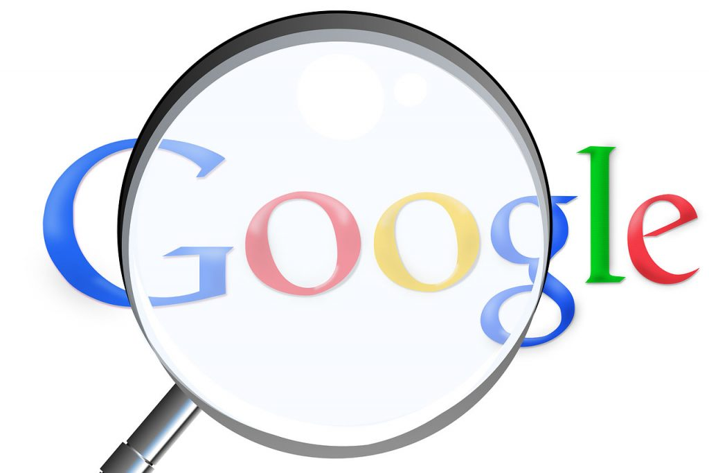 google rank seo magnifying glass